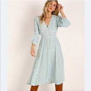NWT Anthro Faithful The Brand Midi Dress